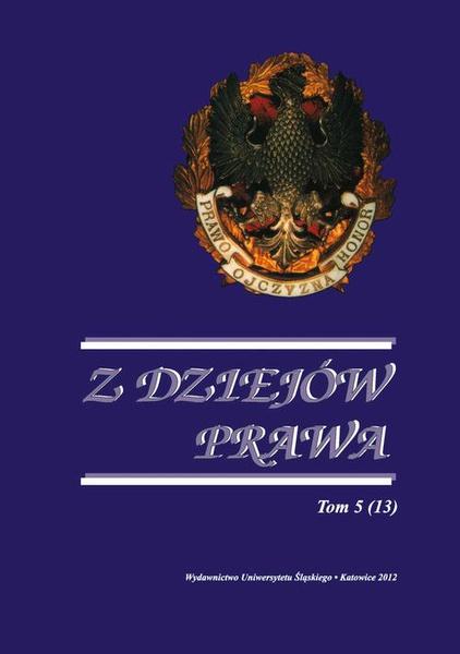 Z Dziejów Prawa. T. 5 (13)