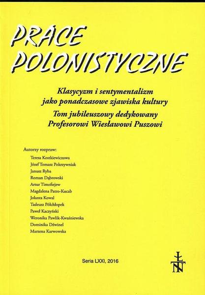 Prace Polonistyczne t. 71