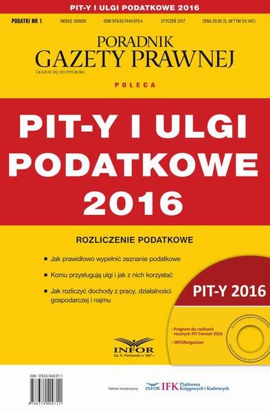 PIT-y i ulgi podatkowe 2016