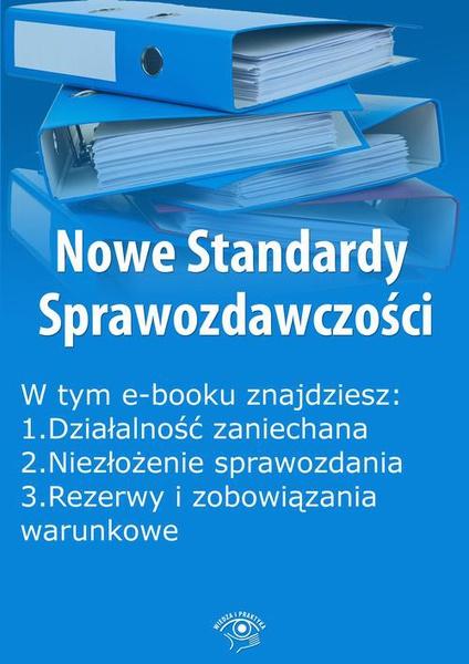 Nowe Standardy Sprawozdawczości, wydanie lipiec 2015 r. część I