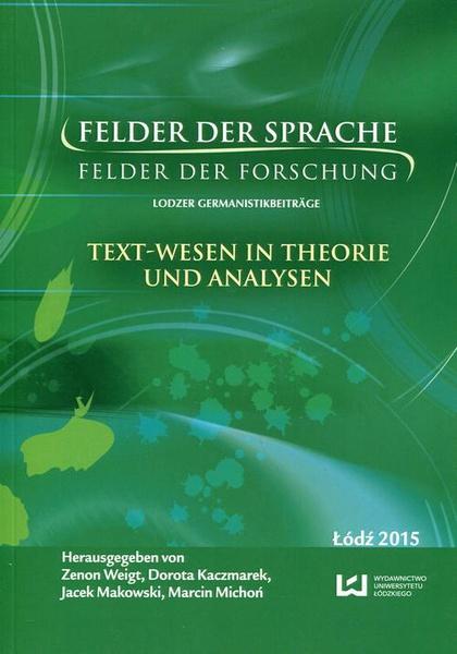 Felder der Sprache Felder der Forschung
