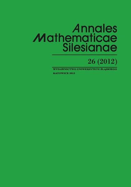 Annales Mathematicae Silesianae. T. 26 (2012)