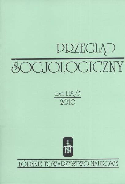 Przegląd Socjologiczny t. 59 z. 3/2010