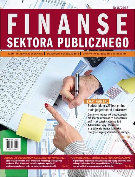 Finanse sektora publicznego Nr 8/2013