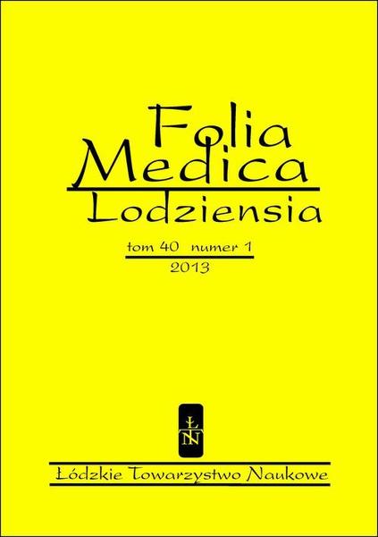 Folia Medica Lodziensia t. 40 z. 1/2013