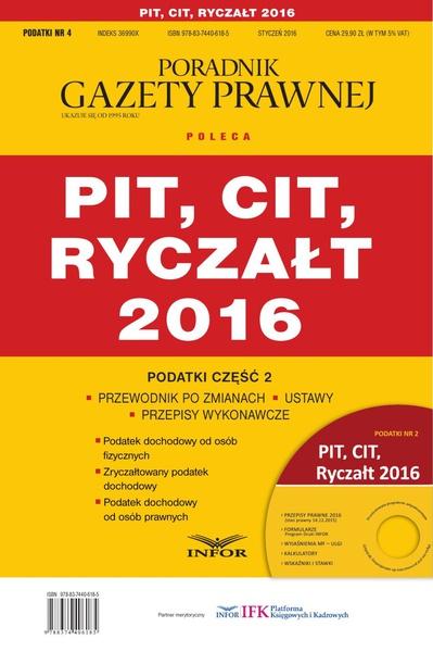 Podatki 2016/04 - Podatki cz.2 PIT,CIT,Ryczałt 2016