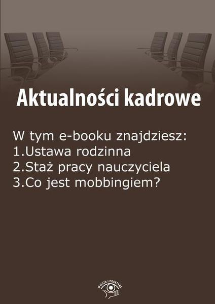 Aktualności kadrowe, wydanie maj 2015 r.