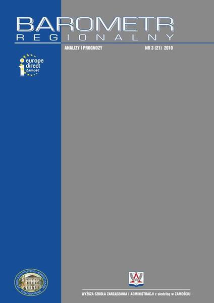 Barometr Regionalny : analizy i prognozy. Nr 3 (21)