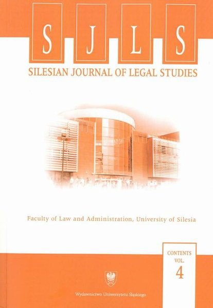 """Silesian Journal of Legal Studies"". Contents Vol. 4"
