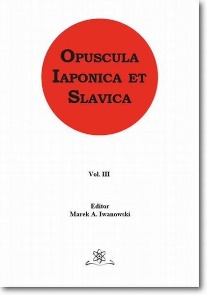 Opuscula Iaponica et Slavica Vol. 3