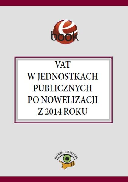 VAT w jednostkach publicznych po nowelizacji z 2014 roku