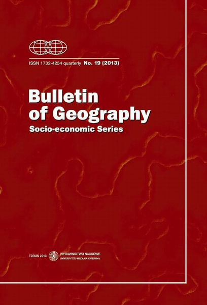 Bulletin of Geography. Socio-economic Series, No. 19/2013