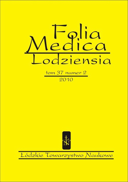 Folia Medica Lodziensia t. 37 z. 2/2010