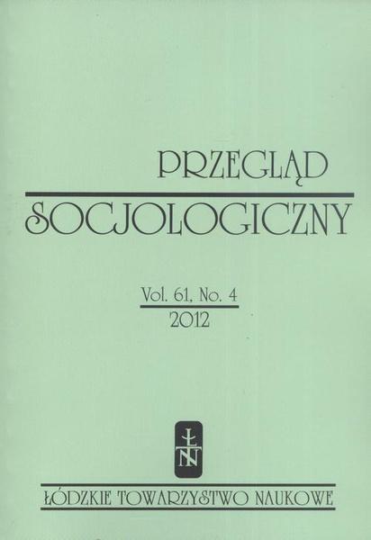 Przegląd Socjologiczny t. 61 z. 4/2012