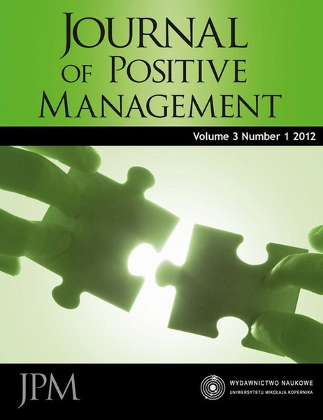 Journal of Positive Management, Vol. 3, No. 1, 2012