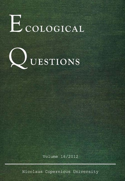 Ecological Questions. An International Journal on Controversial Problems of Ecology. Vol. 16/2012