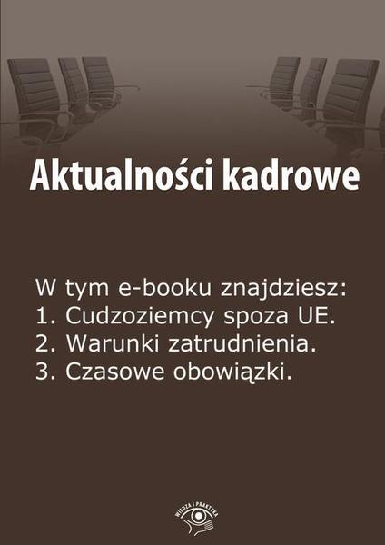 Aktualności kadrowe, wydanie maj 2014 r.