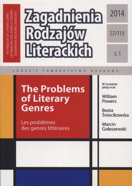 Zagadnienia Rodzajów Literackich t. 57 (113) z. 1/2014