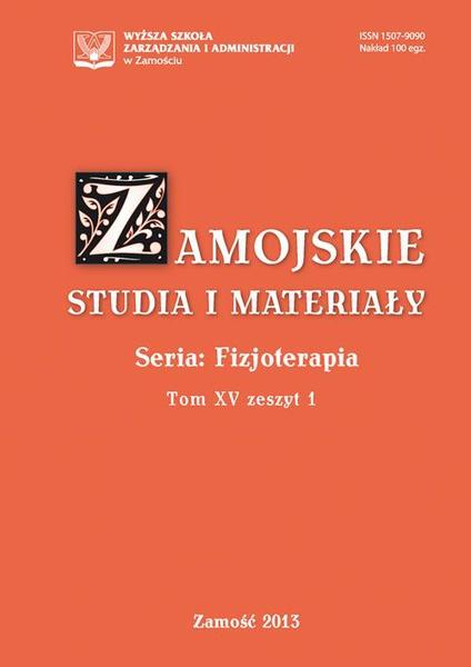 Zamojskie Studia i Materiały. Seria Fizjoterapia. T.15, z.1