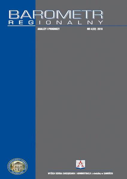 Barometr Regionalny : analizy i prognozy. Nr 4 (22)