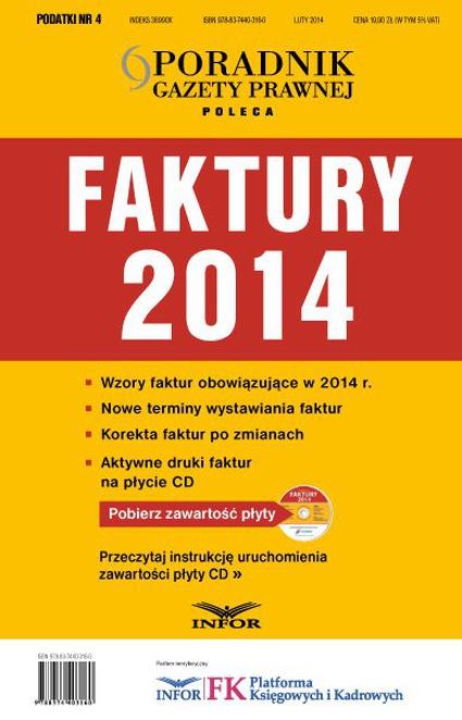 Podatki 4/14 -Faktury 2014 - Opracowanie zbiorowe,Infor Pl