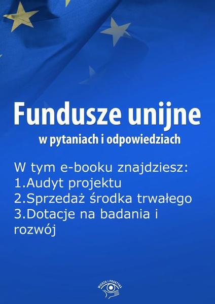 Fundusze unijne w pytaniach i odpowiedziach, wydanie czerwiec 2016 r.