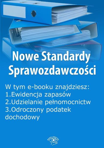 Nowe Standardy Sprawozdawczości, wydanie marzec 2016 r. część I