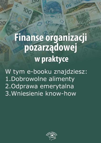Finanse organizacji pozarządowej w praktyce, wydanie lipiec 2014 r.