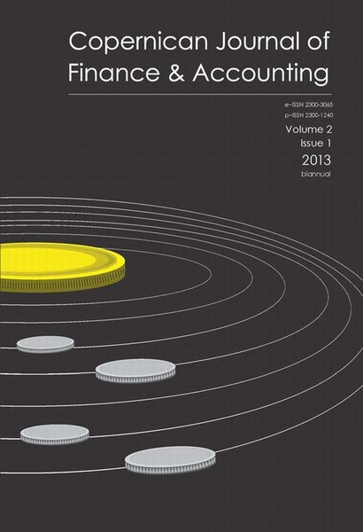 Copernican Journal of Finance & Accounting, vol 2, 1/2013