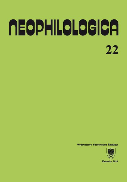 Neophilologica. Vol. 22: Études sémantico-syntaxiques des langues romanes. Hommage à Stanisław Karolak