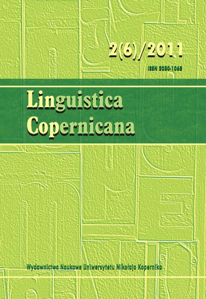 Linguistica Copernicana 2(6) 2011