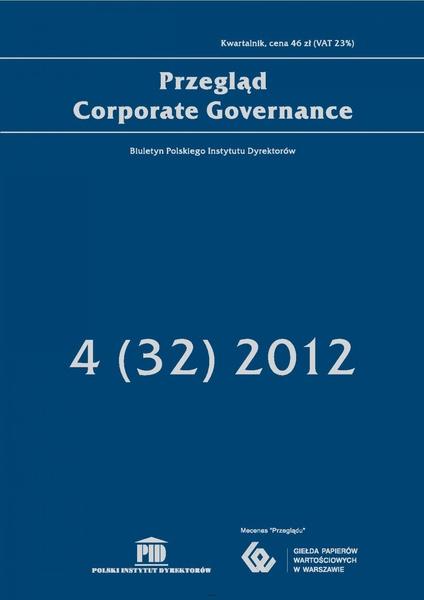 Przegląd Corporate Governance 4 (32) 2012