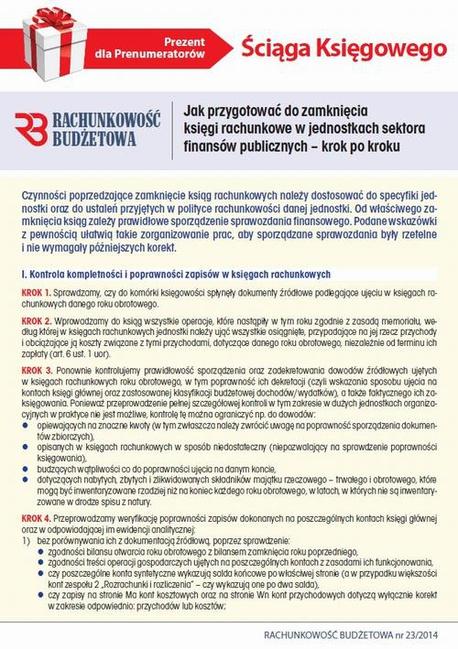 Ściąga Księgowego. Jak przygotować do zamknięcia księgi rachunkowe w jednostkach sektora finansów publicznych - Opracowanie zbiorowe,Infor Pl