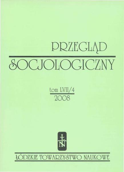 Przegląd Socjologiczny t. 57 z. 4/2008