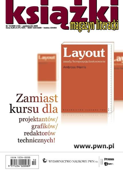 Magazyn Literacki KSIĄŻKI - Nr 10/2008 (145)