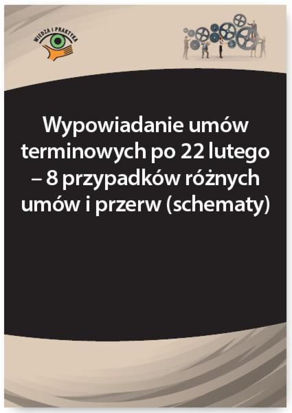 Wypowiadanie umów terminowych po 22 lutego - 8 przypadków różnych umów i przerw (schematy)