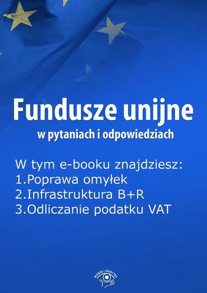 Fundusze unijne w pytaniach i odpowiedziach, wydanie kwiecień 2016 r.