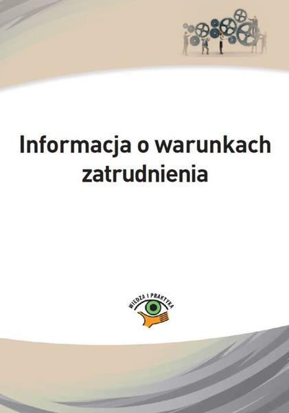 Informacja o warunkach zatrudnienia