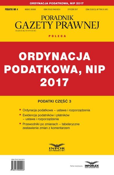 Podatki cz. 3 Ordynacja podatkowa, NIP 2017