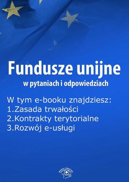 Fundusze unijne w pytaniach i odpowiedziach, wydanie luty 2015 r.