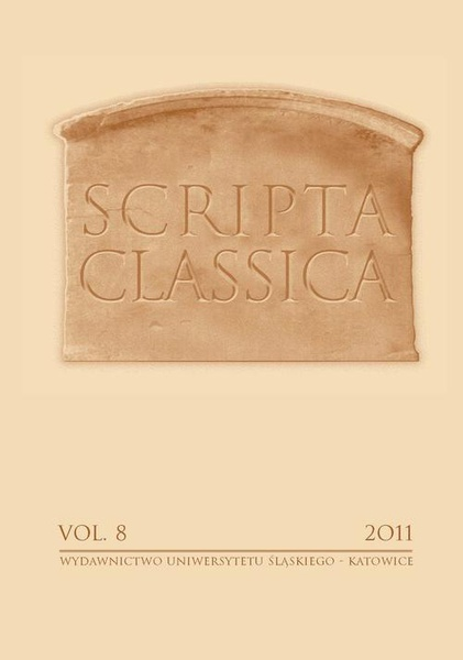 Scripta Classica. Vol. 8