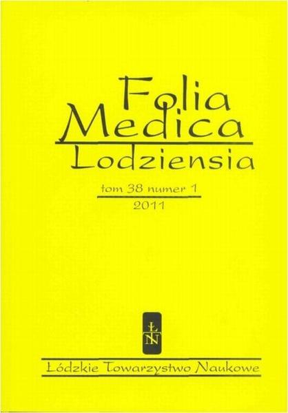 Folia Medica Lodziensia t. 38 z. 1/2011