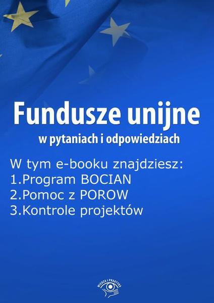 Fundusze unijne w pytaniach i odpowiedziach, wydanie marzec 2015 r.