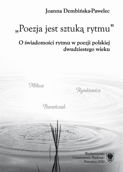 Poezja jest sztuką rytmu