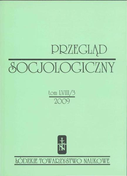 Przegląd Socjologiczny t. 58 z. 3/2009