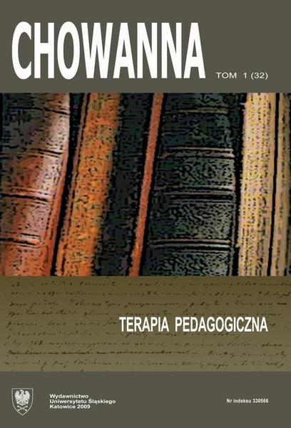 """Chowanna"" 2009, R. 52 (65), T. 1 (32): Terapia pedagogiczna"