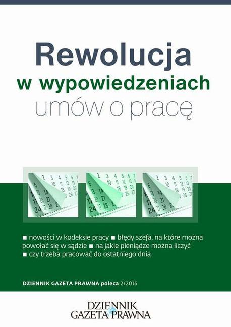 Rewolucja w wypowiedzeniach umów o pracę - Ewa Drzewiecka