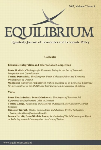 Equilibrium. Quarterly Journal of Economics and Economic Policy 2012, Volume 7 Issue 4