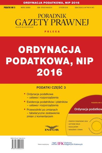 PODATKI 2016/5 - Podatki cz.3 - Ordynacja podatkowa, NIP 2016