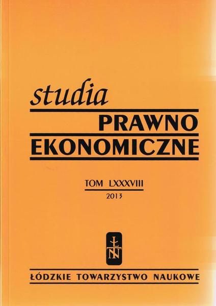 Studia Prawno-Ekonomiczne t. 88/2013